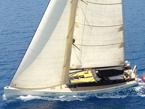Hanse 630e under full sail
