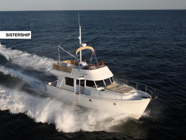 Swift Trawler 34 in open water